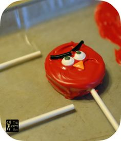 Angry birds cookie pop  End of season soccer treat?