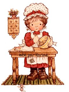gifs et tubes sarah kay - Page 7 Sarah Key, Holly Hobbie, Creative Pictures, Cute Pictures, Vintage Drawing, Sweet Pic, Cute Illustration, Vintage Cards, Vintage Children