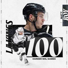"LA Kings on Instagram: ""1️⃣0️⃣0️⃣ @NHL Games Played! Congratulations @MattRoy6."" Nhl Games, Games To Play, Congratulations, Fictional Characters, Instagram, Fantasy Characters"