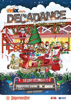 Decadance The Christmas Edition  Poster Design by Kaleido