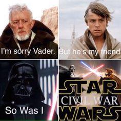 Regular Star Wars, civil war crossover