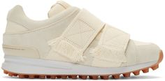 3.1 Phillip Lim: Cream Suede Low-Top Trance Sneakers | SSENSE
