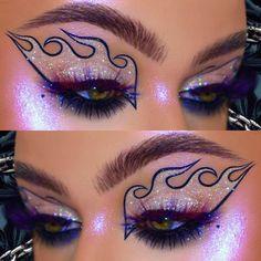 Punk Makeup, Eye Makeup Art, Body Makeup, Skin Makeup, Unique Makeup, Creative Makeup Looks, Colorful Eye Makeup, Amazing Makeup, Makeup Goals