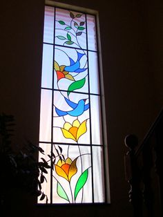 Stained Glass Christmas, Stained Glass Flowers, Faux Stained Glass, Stained Glass Designs, Stained Glass Panels, Glass Painting Patterns, Glass Painting Designs, Paint Designs, Main Entrance Door Design