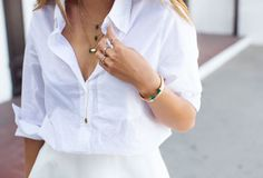 fresh white button down