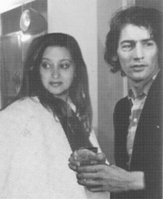 Zaha Hadid with her boss Rem Koolhaas, sometime in the 70's before she left to start her own firm