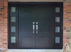 Modern Double Doors Exterior - Doors may seem more difficult to fasten due to how they shut at first. Rather than shutting i Exterior Door Hardware, Front Door Hardware, Double Doors Exterior, Front Door Handles, Double Front Doors, Double Lock, Front Entry, Front Deck, House Front