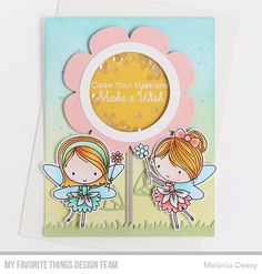 Fairy Happy Stamp Set and Die-namics, Shaker Flower Die-namics, Spring Scene Builder Die-namics - Melania Deasy  #mftstamps