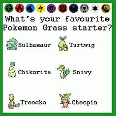 Martins Games | What's your favorite Pokémon grass starter Top List, Bulbasaur, Your Favorite, Grass, Fictional Characters, Grasses, Fantasy Characters, Herb