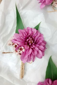 Purple dahlia buttonhole #dahlia #buttonhole