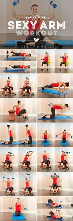Do these arm exercises in this order to reduce excess fat, add definition & become stronger in the process: http://www.livestrong.com/slideshow/1011197-ultimate-workout-sexy-sculpted-arms