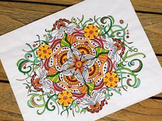 Coloring Page Printable Zentangle Inspired by TheTangledCat