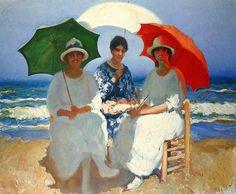 Cecilio Pla. Las tres sombrillas (hacia 1915)