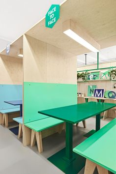 Booths are a fun way to break the mold of traditional educational seating options!