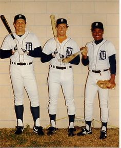 Detroit Tigers, from left: Lance Parrish, Alan Trammell and Lou Whitaker