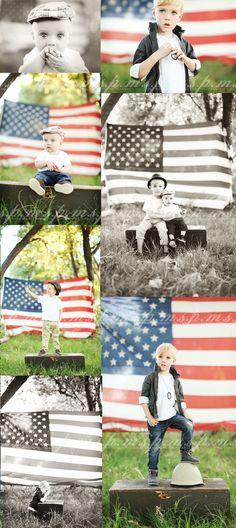 July 4th minin session idea? With the flag not touching the effin ground seriously wtf??? Cute idea though!!