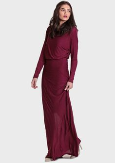 LOVE this!!!  Marcia Maxi Dress In Wine at #Ruche @Ruche