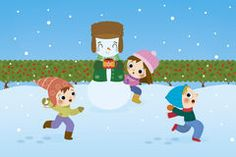 Children play in the snow Royalty Free Stock Images