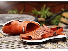 Men's Genuine leather Air Sandals