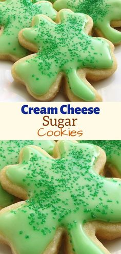 Cream Cheese Sugar Cookies Ingredients : 1 cup white sugar 1 cup butter, softened 1 ounce) package cream cheese, softened teaspoon salt teaspoon almond extract teaspoon vanilla extract 1 egg yolk 2 cups all-purpose flour Cream Cheese Sugar Cookies, Sugar Cookies Recipe, Yummy Cookies, Butter Cheese, Cheese Cookies, Köstliche Desserts, Delicious Desserts, Dessert Recipes, Candy Cookies