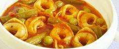 Supa de rosii cu tortellini Supe, Tortellini, Macaroni And Cheese, Shrimp, Meat, Ethnic Recipes, Food, Mac Cheese, Beef