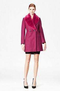 Salsa Faux Fur Collar Coat on shopstyle.com