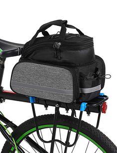Lixada Bicycle Rear Seat Bag Multifunction Expandable Waterproof