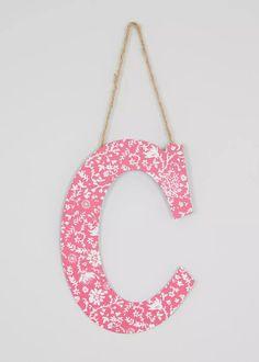 C Hanging Letter Decoration (22cm x 16cm) View 1