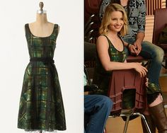 Anthropologie Painted Plaid Dress - $99.99 (EBAY, many sizes) Worn with:Anthropologie boots Also worn in:3x09 'Extraordinary Merry Christmas' withAnthropologie cardigan,Anthropologie booties