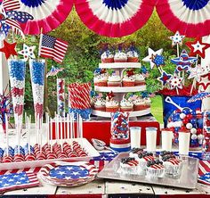 Decor You Adore: O' Say Can You See? Decorating with Red, White & Blue!
