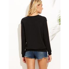 Color Block Drop Shoulder Sweatshirt ($15) ❤ liked on Polyvore featuring tops, hoodies, sweatshirts, multicolor sweatshirt, preppy sweatshirts, long sleeve tops, colorful sweatshirts and stretchy long sleeve tops