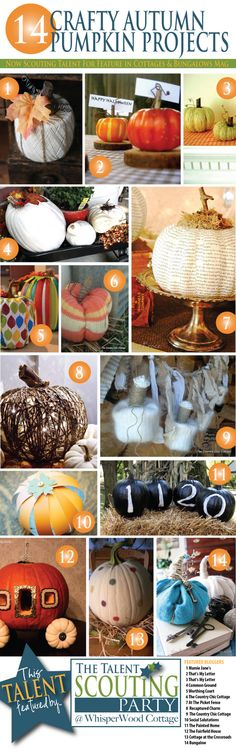 "WhisperWood Cottage: 14 Crafty Autumn Pumpkin Projects: Features from The ""Autumn Décor"" Talent Scouting Party"