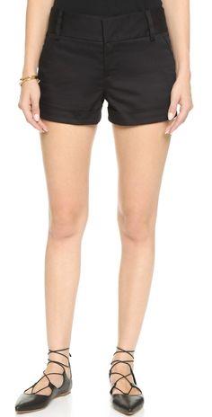 alice + olivia Cady Cuff Shorts | SHOPBOP
