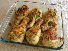 Muy Locos Por La Cocina: Pollo Asado Marinado en Yogur al Estilo Griego