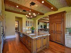 Wood...natural element....kitchen idea