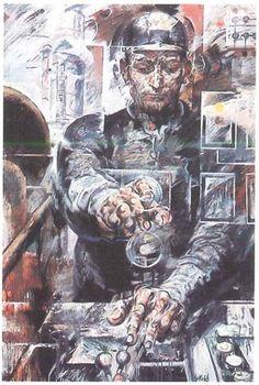 Willi Sitte. Chemiearbeiter am Schaltpult. 1968 - Kunst in der DDR / Werke (Auswahl) #ddrmuseum