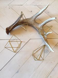 Hanging brass geometric diamond. Air plant planter Mobile Home decor Includes a free air plant! Unfortunately I dont send air plants out of the US due