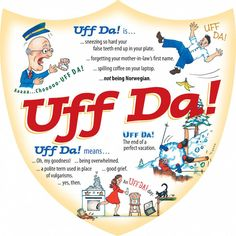 "This charming wallDecorationwill brighten your kitchen, garage or entranceway. The unique artwork on this ceramic tile makes for a classic Norwegian gift. This high quality wallDecorationfeatures a pre drilled hole for hanging, safety cork backing and floral pattern gift box. Features definition of the word Uff Da! - Cork backing - For decorative use only - Approximate Dimensions (Length x Width x Height): 7.75x7.75x0.25"" - Material Type: Ceramic"