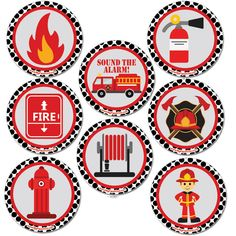 Includes 8 coasters printed on Card Stock. Fireman Party, Firefighter Birthday, Fire Truck Nursery, Toy House, Construction Birthday Parties, Cute Coloring Pages, Party Packs, Baby Party, Fire Trucks