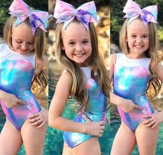 Play with material, not less coverage Omg this is super cute 😍 my daughter needs this. Gymnastics Wear, Girls Gymnastics Leotards, Gymnastics Outfits, Cute Girl Dresses, Cute Girl Outfits, Little Girl Bikini, Bikini Girls, Beautiful Little Girls, Cute Girls