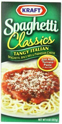 Review of Kraft Spaghetti Classics Tangy Italian Spaghetti Dinner