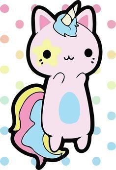 This is so adorable~~ A kawaii neko unicorn Unicorn Cat, Cute Unicorn, Rainbow Unicorn, Chat Kawaii, Kawaii Cat, Anime Kawaii, Chibi, Arte Fashion, Unicorns And Mermaids