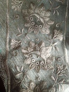 Image of Beautiful French Lace w/silk Embroidery