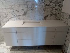 Bathroom | Private House | Ioannina | Top-Sink-Doors with Corian by Dupont | Special construction by Petsis... Corian Dupont, Sink, Construction, Doors, Bathroom, Table, Top, House, Furniture