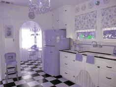 (70) Tumblr purple kitchen of my dreams <33