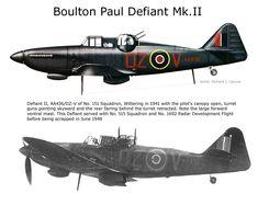 Boulton Paul Defiant Mk.II #aviationideas Ww2 Aircraft, Fighter Aircraft, Military Aircraft, Fighter Jets, Aviation World, War Thunder, Aircraft Painting, Ww2 Planes, Battle Of Britain