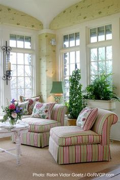 Classic Hill Interiors - lovely sunroom