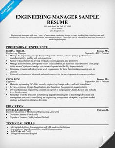 engineering manager sample resume - Ceramic Engineer Sample Resume