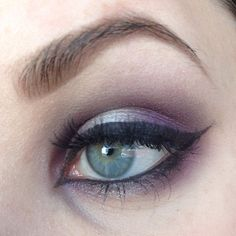 """Used @mbacosmetics colors in vengeance and chrome for this look! #mbacosmetics #newlook #mua #motd #lotd #eotd #eye #falsies #bold #purple #smokeyeye…"""