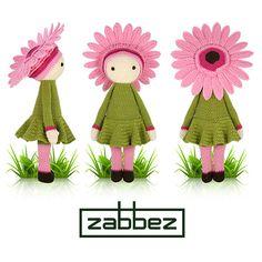 Patrón de crochet de la Gerbera Gemma PDF por Zabbez en Etsy